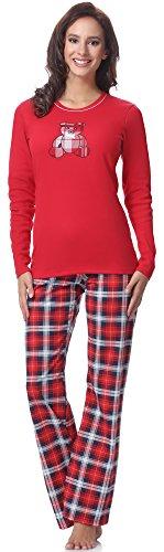 Pijama de algodón para Mujer Conjunto de Dos Piezas con Mangas largas y Bolsillos | Conjunto Hecho en casa Perfecto para un Regalo