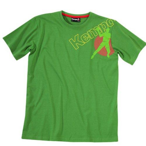 Kempa Kinder T-Shirt Player Dots, dunkelgrün, XXS, 200213103