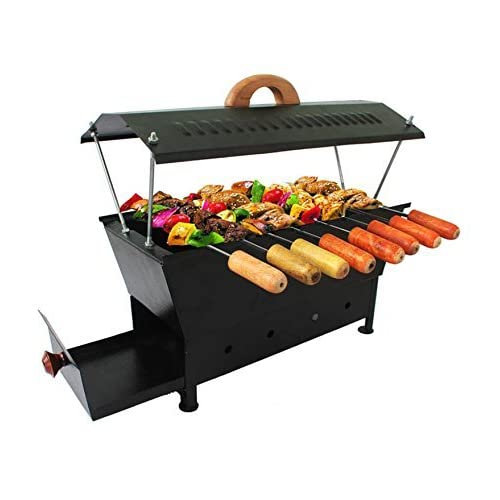 Black Butterfly Travel Essentials Hut Shape Iron Barbecue Grill (Black)