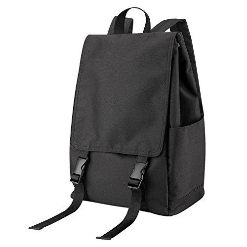 Luxspire Student Backpack, Waterproof Large Fashion College Lightweight School Bag Bookbag Fits 15.6 Inch Laptop Casual Shoulder Daypacks Purse for Men Women, Black