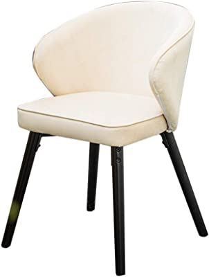 Velvet Lounge Chair, Strong and Durable, Easy to Clean, Ergonomic Designer, Dining Chair, Soft and Comfortable Coffee Shop, Ins, Wind, Leisure Chair, Thick Cushion (Color : White)