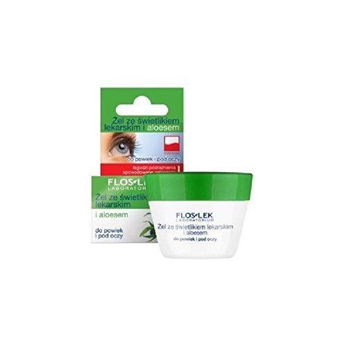 Flos Lek – Creme zur Anwendung auf dem Augenlid und unter dem Auge, mit Augentrost und Aloe Vera, 10 g