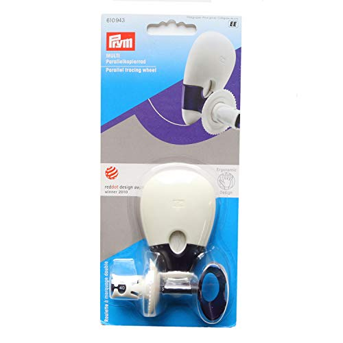 Prym 610943 Parallelkopierrad Multi Ergonomics, pflaumenblau, weiß, One Size