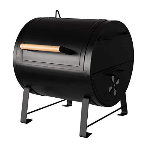 AmazonBasics - Barbacoa de mesa y brasero de carbón, diseño compacto, color negro