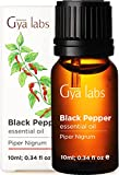 Gya Labs Black Pepper Essential Oil for Wellness, Pain Relief - Curb Smoky Habits, Boost Body Defenses and Relieve Sore Muscles - 100 Pure Therapeutic Grade Black Pepper Oil for Aromatherapy- 10ml