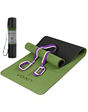 Lixada Yoga Mat TPE Pilates Mat Antislip Oefenmat Met Body Alignment Lines Draagriem Voor Vloer Workout Fitness Hot Yoga 183 * 61 * 0,6 cm