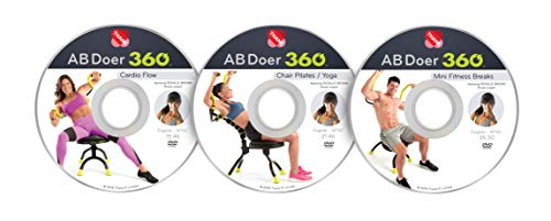AB Doer 360 Workout Series - 3 Pack DVD Set with Fitness Professional Rosalie Brown! Cardio Flow, Chair Pilates/Yoga & 5 Minute Fitness Breaks Get The Most Out of Your