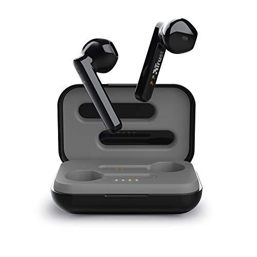 Trust Mobile Primo Touch Bluetooth In-Ear Auricolari Senza Fili (Microfono Integrato, 10 Ore di Tempo di Utilizzo) Nero