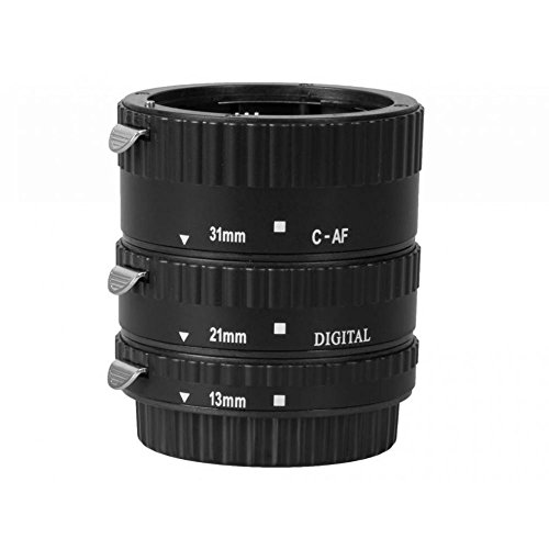 Meike - Fotocamere Tubo Macro Metallico di Estensione Anello Metallo Autofocus 13mm/21mm/31mm per Canon