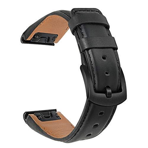 TRUMiRR Ersatz für Garmin Fenix 6S/5S Leder Armband, 20mm Quick Release Easy Fit Uhrenarmband Echtes Rindsleder Armband Sports Ersatzband für Garmin Fenix 6S/6S Pro/6S Solar/Sapphire, Fenix 5S/5S Plux