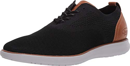G.H. Bass & Co. Mens Connor KT Casual Oxford Shoe, Black/Tan, 9 M