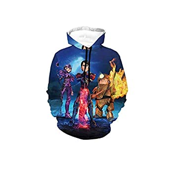 Troll-Hunters Graphic Pullover Sweatshirt Hoodie with Mask for Kids Boys Girls Teens