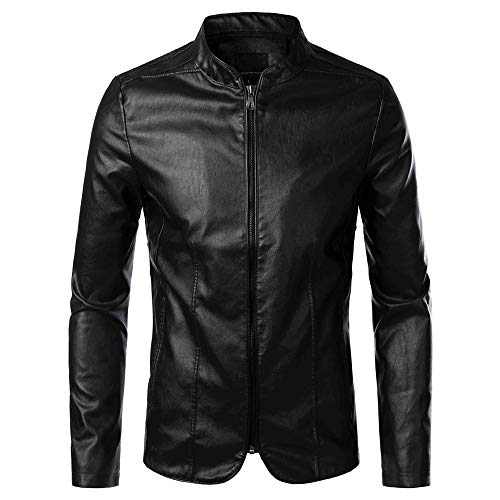 Yczx Mens Leather Jacket Biker Jacket Mens Jackets Casual Smart Autumn Winter Warm Motorbike Faux Leather Jackets Vintage Claasic Fashionable Outwear Tops Coat 4XL