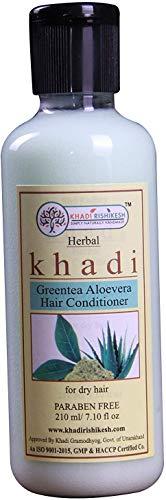 Glamorous Hub Khadi Rishikesh Herbal Greentea Aloevera Acondicionador para el cabello, paquete de 210 ml (el embalaje puede variar)