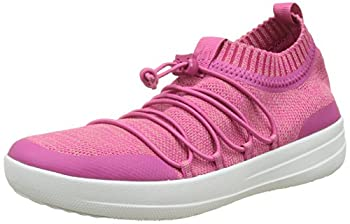 FitFlop Women Uberknit Slip-on Ghillie Sneakers Hi-Top Trainers Multicolour  Fuchsia/Dusky Pink  6 UK  39 EU