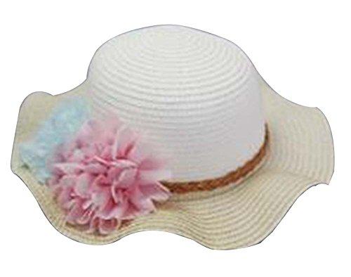 Les petites filles Beau Chapeau de soleil Princesse Hat Summer Beach Hat [C]