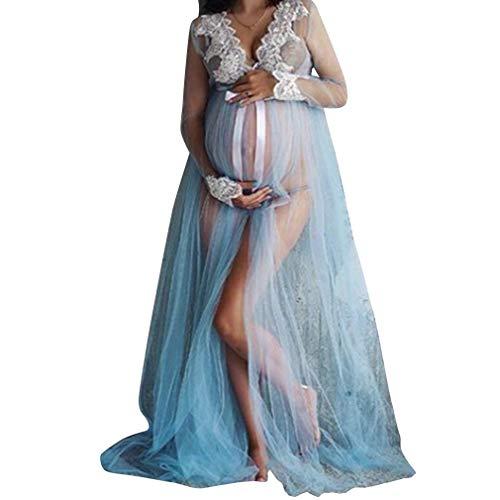 Mujer Vestido de Maternidad, Elegante Fiesta Boda Vestidos Largos Mujeres Embarazada Vestidos Faldas de Maternidad Ropa de Embarazo como Apoyos de Fotografía Tamaño S M L XL