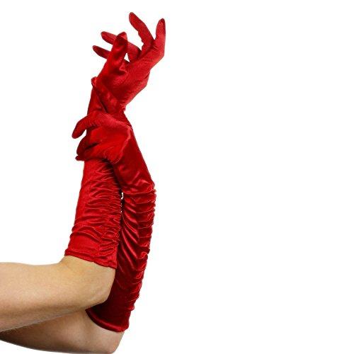 Smiffy's 26345 Verführerin-Handschuhe, Einheitsgröße, rot