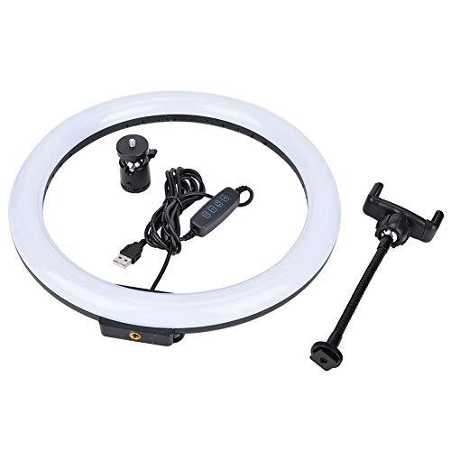 Alomejor1 LED Ring Licht met Lamp Basis Bal Hoofd en Telefoon Clipfor Selfie Make-up Youtube Video Multi-Platform Live Streaming