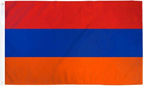 Armenien Flagge Fahne 91x152 cm Polyester by OnebasispointEU