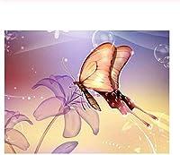 大人と子供 ジグソーパズル 300/500/1000 ピース ファミリーゲームジグソーパズル飛んでいる蝶と花パズルに挑戦するパズルゲーム