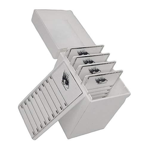 perfeclan 5 Couches Faux-cils Box Acrylique Boîte de Rangement Organisateur de Cas 8 x 10,5 x 13,2 cm - blanc