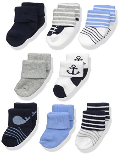 Luvable Friends baby boys Newborn and Terry Socks, Whale, 0-6 Months US