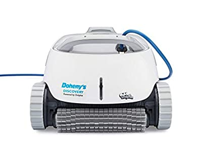 DOLPHIN Discovery Automatic Robotic Pool Cleaner, Agile and Efficient Pool Cleaning, Ideal for In-ground Swimming Pools up to 50 Feet