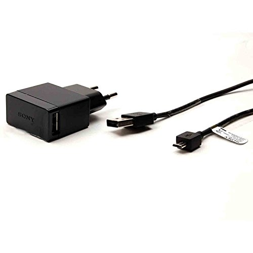 Original Sony Mobile EP880+EC801 Ladekabel für Xperia Z3 Ladeadapter + Datenkabel Netzteil Ladegerät Aufladegerät MicroUSB Aufladekabel Charger 1500mah