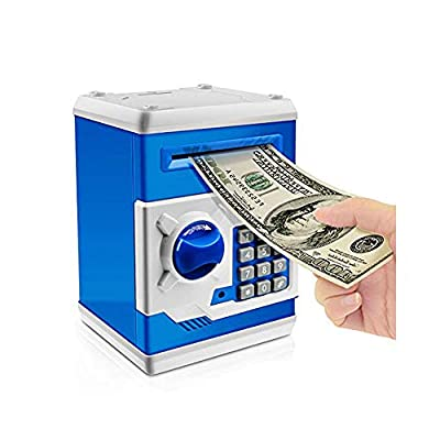 Jhua Cartoon Piggy Bank Password Electronic Money Bank Safe Saving Box ATM Bank Safe Locks Panda Smart Voice Prompt Money Piggy Box for Children/ Christmas Gift