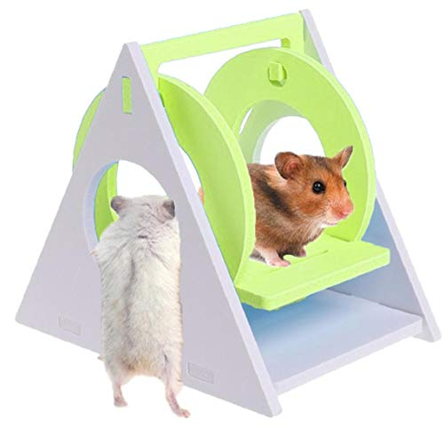 LAANCOO Hamster Schaukel Hamster Spielplatz Hamster hängende Spielwaren Behausung Hamster und Hideouts für Gerbils Meerschweinchen Chinchillas Spielen (Grün)