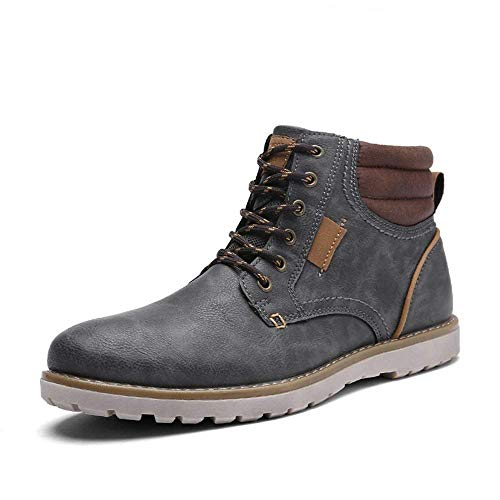 Quicksilk EYUSHIJIA Men's Waterproof Snow Boots Hiking Boot (13 D(M) US, Dark Gray)