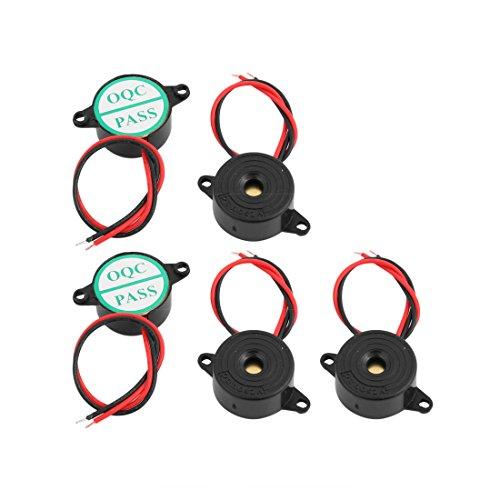 Lowest Price! uxcell 5 Pcs Industrial Active Piezoelectric Electronic Buzzer Continuous Sound DC3-24...