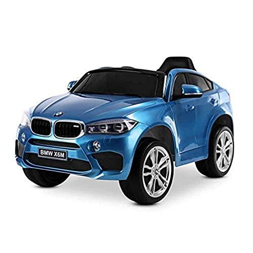 Playkin BMW X6M AZUL - Coche de bateria para niños mando 12V licencia oficial luces y sonidos juguetes infantiles coches de bateria , color/modelo surtido