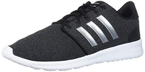 adidas Women's Cloudfoam QT Racer Xpressive-Contemporary Cloadfoam Running Sneakers Shoes, core Black/Silver Met./ Grey three, 12 Standard US Width US