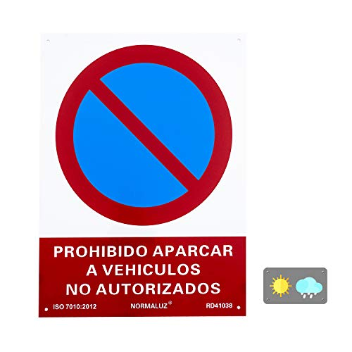 Normaluz RD41038 - Señal Prohibido Aparcar a Vehículos No