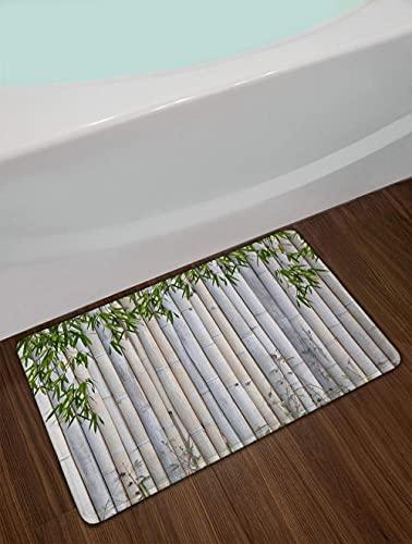 Hoja de bambú Verde Estera de Puerta de balsa de bambú Alfombra de Cocina Antideslizante Alfombra de baño Alfombra de Pasillo Alfombras y alfombras para el hogar Sala de Estar 50x80cm