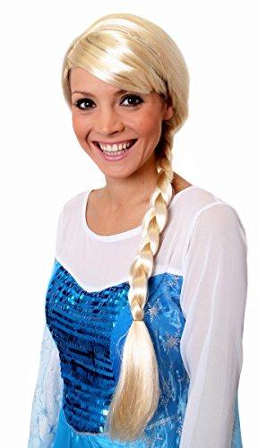 ILOVEFANCYDRESS Lange Zopf Perücke für Damen Charakter Kostüm Zubehör Videospiel-Film-Charakter Blond Kunsthaar Perücke Cosplay