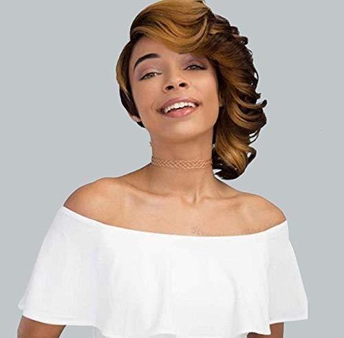 SEXYY Perruque Afro Longue virole de poils bouclés brune et squameuse brune,synthétiques pour femmes les perruques afro américaine