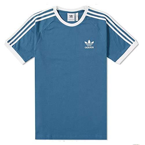 adidas Originals DV2554 - Camiseta para hombre, diseño de trébol de 3 rayas, color azul pálido, cuello redondo, tallas de S a XL - Azul - XX-Large