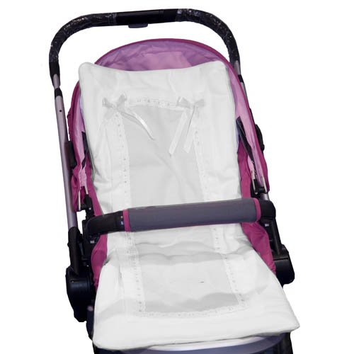 Baby Doll Bedding Stroller Covers, White