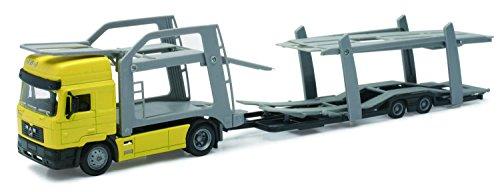 New Ray - Véhicule Miniature - Modèles À L'échelle - Camion Man F2000 Transport-Autos - Echelle 1/43 - 15033 B