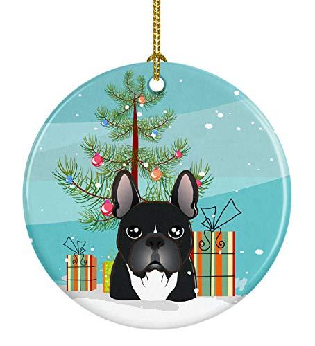 Caroline's Treasures Christmas Tree French Bulldog Ceramic Ornament