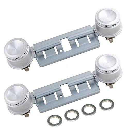 Juego de 2 quemadores dobles WB16K10026 para hornillo de gas GE Hotpoint, sustituye a AP2633210 WB29K17 WB16K10003