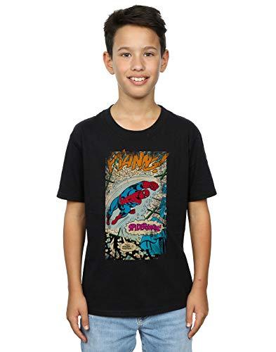 Marvel niños Spider-Man Ftanng Camiseta 5-6 Years Negro