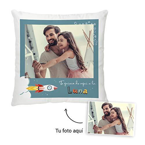 Fotoprix Cojín Personalizado con Foto para Papá | Regalo Original día del Padre | Varios diseños Disponibles (Diseño: Padre 1, 45 x 45 cms)