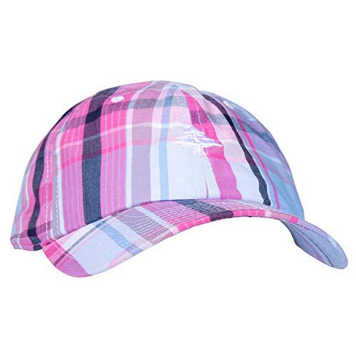 LRG Men's Dad Hat, Pale Blue Plaid, OSFM