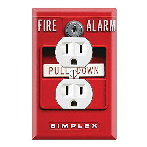 Graphics Wallplates - Fire Alarm - Duplex Outlet Wall Plate Cover