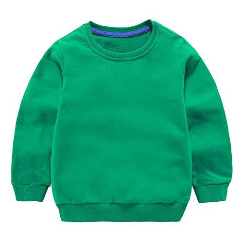 Taigood Bebé Niños Niñas Tops Algodón Sudadera Linda Ropa de Jersey Camiseta Otoño Invierno 1-7 años Verde 100cm/2-3años