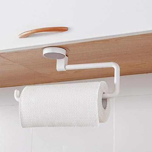Romsion Home Voor Keuken Opslag Rack met Zuignap voor Handdoek Weefsel Behoud Film Roll Organiseren